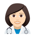 Woman Health Worker: Light Skin Tone on JoyPixels 5.0