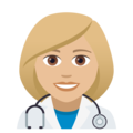 Woman Health Worker: Medium-Light Skin Tone on JoyPixels 5.0
