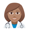 Woman Health Worker: Medium Skin Tone on JoyPixels 5.0
