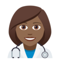 Woman Health Worker: Medium-Dark Skin Tone on JoyPixels 5.0
