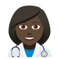 Woman Health Worker: Dark Skin Tone on JoyPixels 5.0