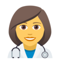 Woman Health Worker on JoyPixels 5.0