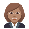 Woman Office Worker: Medium Skin Tone on JoyPixels 5.0