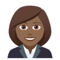 Woman Office Worker: Medium-Dark Skin Tone on JoyPixels 5.0