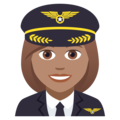 Woman Pilot: Medium Skin Tone on JoyPixels 5.0