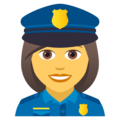 Woman Police Officer on JoyPixels 5.0