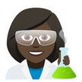 Woman Scientist: Dark Skin Tone on JoyPixels 5.0