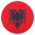 Flag: Albania on JoyPixels 5.0
