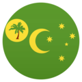 Flag: Cocos (Keeling) Islands on JoyPixels 5.0