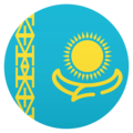 Flag: Kazakhstan on JoyPixels 5.0
