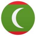 Flag: Maldives on JoyPixels 5.0