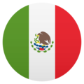 Flag: Mexico on JoyPixels 5.0