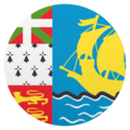 Flag: St. Pierre & Miquelon on JoyPixels 5.0