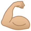 Flexed Biceps: Medium-Light Skin Tone on JoyPixels 5.0