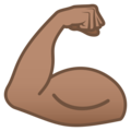 Flexed Biceps: Medium Skin Tone on JoyPixels 5.0