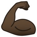 Flexed Biceps: Dark Skin Tone on JoyPixels 5.0