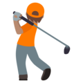 Person Golfing: Medium Skin Tone on JoyPixels 5.0