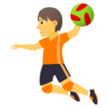 Person Playing Handball on JoyPixels 5.0