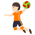 Person Playing Handball: Light Skin Tone on JoyPixels 5.0