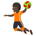 Person Playing Handball: Dark Skin Tone on JoyPixels 5.0
