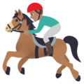 Horse Racing: Medium Skin Tone on JoyPixels 5.0