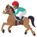 Horse Racing: Medium-Dark Skin Tone on JoyPixels 5.0