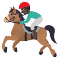Horse Racing: Dark Skin Tone on JoyPixels 5.0