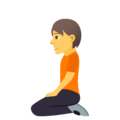 Person Kneeling on JoyPixels 5.0