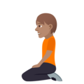 Person Kneeling: Medium Skin Tone on JoyPixels 5.0