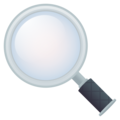 Magnifying Glass Tilted Left on JoyPixels 5.0