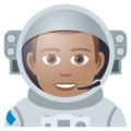 Man Astronaut: Medium Skin Tone on JoyPixels 5.0