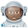 Man Astronaut: Medium-Dark Skin Tone on JoyPixels 5.0