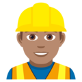Man Construction Worker: Medium Skin Tone on JoyPixels 5.0