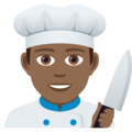 Man Cook: Medium-Dark Skin Tone on JoyPixels 5.0