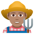 Man Farmer: Medium Skin Tone on JoyPixels 5.0
