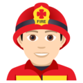 Man Firefighter: Light Skin Tone on JoyPixels 5.0