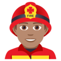 Man Firefighter: Medium Skin Tone on JoyPixels 5.0