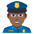 Man Police Officer: Medium-Dark Skin Tone on JoyPixels 5.0