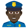 Man Police Officer: Dark Skin Tone on JoyPixels 5.0