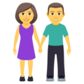 Woman and Man Holding Hands on JoyPixels 5.0