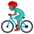 Man Biking: Medium-Dark Skin Tone on JoyPixels 5.0