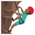 Man Climbing: Medium-Dark Skin Tone on JoyPixels 5.0