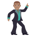 Man Dancing: Medium Skin Tone on JoyPixels 5.0