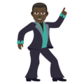 Man Dancing: Dark Skin Tone on JoyPixels 5.0