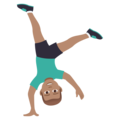 Man Cartwheeling: Medium Skin Tone on JoyPixels 5.0