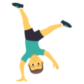 Man Cartwheeling on JoyPixels 5.0