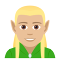 Man Elf: Medium-Light Skin Tone on JoyPixels 5.0