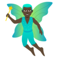 Man Fairy: Dark Skin Tone on JoyPixels 5.0