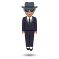 Person in Suit Levitating: Medium Skin Tone on JoyPixels 5.0