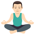 Man in Lotus Position: Light Skin Tone on JoyPixels 5.0